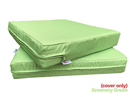 QQbed 4 Pack Outdoor Patio Chair Washable Cushion Pillow Seat Covers 24