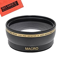 43mm 0.43x Wide Angle Lens with Macro for Canon Vixia HF R80, HF R82, HF R800, HF R70, HF R72, HF R700, HF R30, HF R32, HFM40, HFM41, HFM50, HFM52, HFM400, HFM500 Camcorder