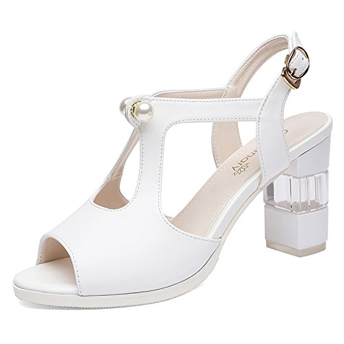 Women And Sandals Mouth In Ties Shoes High The Heel The Shoes Summer HGTYU Water Women That Color Drills Fish Champagne And qpvyqWBAw