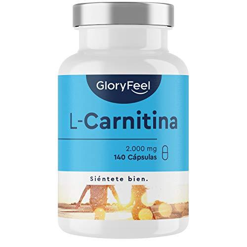 L Carnitina Pura 2000 mg - 140 Cápsulas Veganas - Potente Quemagrasas con 3000 mg L-Carnitina Tartrato - Suplemento deportivo natural para la perdida de peso a buen precio