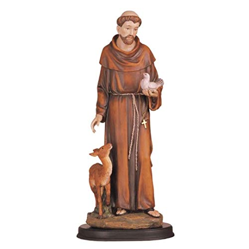 George S. Chen Imports 5-Inch Saint Francis Holy Figurine Religious Decoration Statue Decor (St Imports)