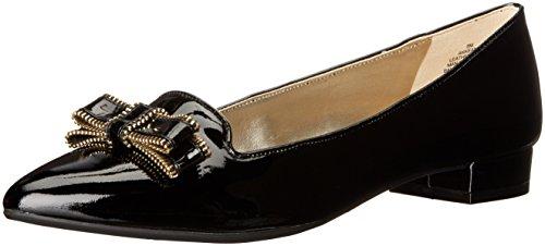 Anne Klein Womens Keana Patent Pointed Toe Flat Black dvlsxg6
