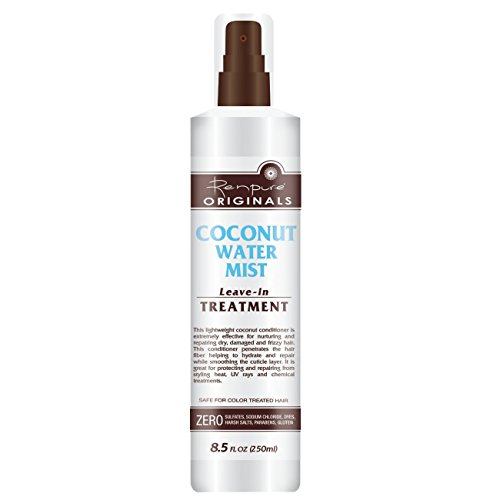 Renpure Coconut Water Mist Leave-In Treatment with Sprayer, 8.5 Ounce