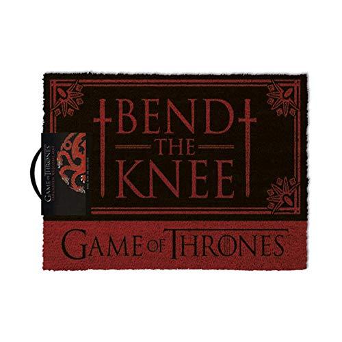 Game of Thrones Bend The Knee Outdoor Doormat Door Mat 30x18 inch