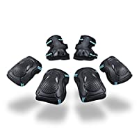 WYTbaby Kids Cycling Skating Protector Set 6pcs Knee Pads, Elbow Pads, Wrist Guards