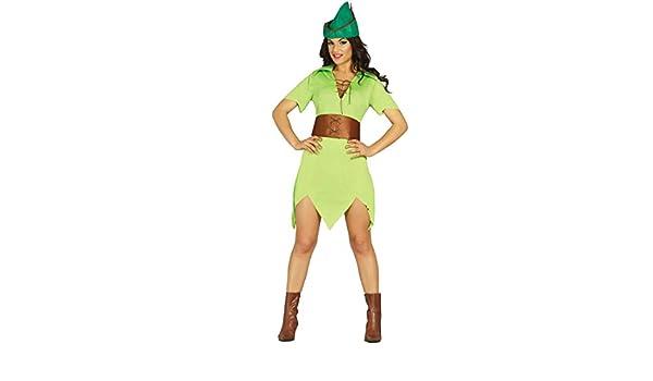 Amakando Atuendo Mujer de los bosques Disfraz arquera M 38/40 Vestimenta Robin Hood Mujer Ouifit Fiesta temática Cuentos Traje de Carnaval Medieval Vestido Edad Media Cazadora carnavalero: Amazon.es: Juguetes y juegos