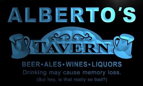 px270-b Alberto's Tavern Beer Mug Bar Pub Wine Neon Light Sign