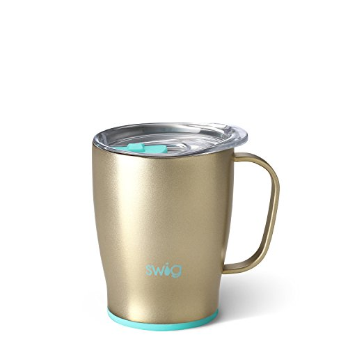 Swig Life Stainless Steel Signature 18oz Travel Mug with Spill Resistant Slider Lid in - Signature Coffee Mug