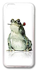 ACESR Frog Rose Top iPhone 6 Cases, TPU Case for Apple iPhone 6 (4.7inch) Transparent