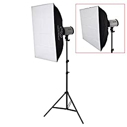 Neewer® 500W Photo Studio Strobe Flash Light Softbox Lighting Kit with Carrying Bag for Portrait,Product Photography and Video Shoots(250DI)