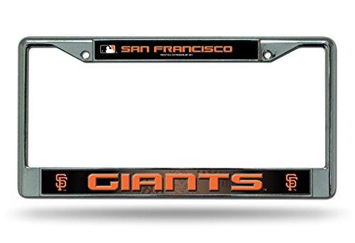 (Rico Industries San Francisco Giants LBL Chrome Frame Metal License Plate Tag Cover Baseball)