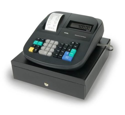 Royal 500DX 16-Department with 999 PLU'S & 8-Clerk ID's and 4-Tax Rates Cash Register + Counterfeit Detector Pen + 6 Thermal Register Paper Rolls + 2 Black Ink Rollers (Royal 710ml Cash Register)
