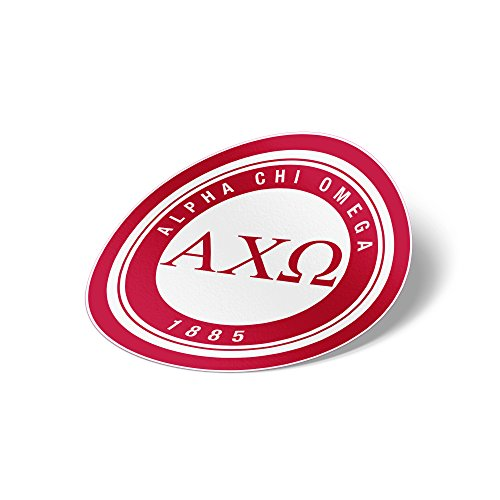 Alpha Chi Omega Sticker Sorority Seal Decal Exclusively Designed 3 Inch Greek for Window Laptop Computer Car AXO
