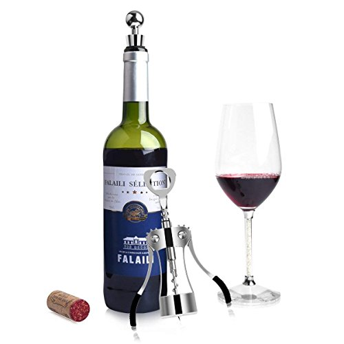 Foho Best Wing Corkscrew Wine Bottle Opener Luxury Waiter Corkscrew with Stopper Set for Wine Enthusiast Waiters - Sleeve Anchors by Foho (Image #6)
