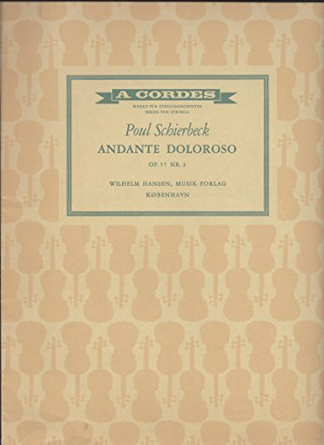 ANDANTE DOLOROSO (DEPICTING GRIEF OR ANGUISH) SHEET MUSIC FOR ORCHESTRA