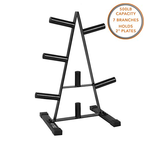 - Olympic Weight Plate Rack, Holds up to 500lb of 2