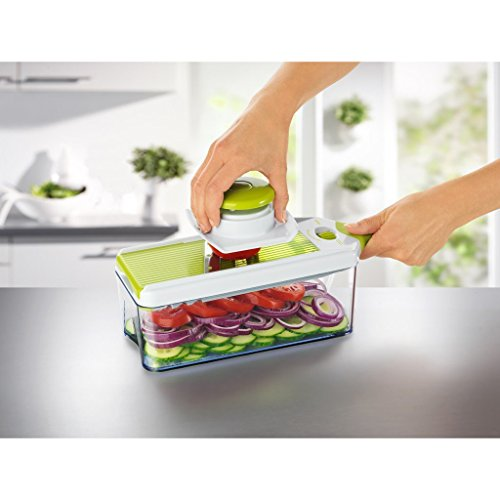 Pickup Lifebe KT Adjustable Mandoline Slicer - 4 Blades - Vegetable Cutter, Peeler, Slicer, Grater & Julienne Slicer save