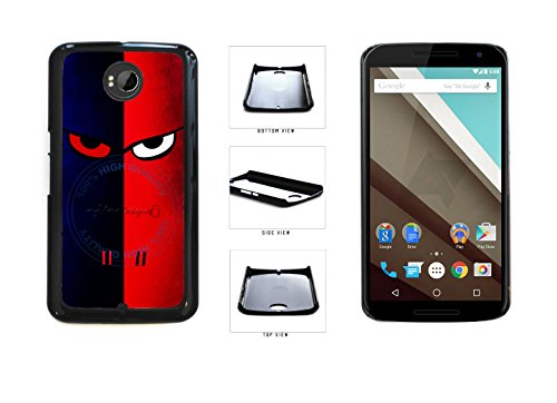[Red And Blue Ninja Face Plastic Phone Case Back Cover For LG Google Nexus 6 D821 comes with Security Tag and myPhone Designs(TM) Cleaning Cloth] (Google Halloween Costumes)