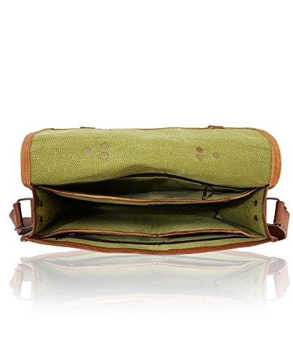 """J WILSON London - Designer echtes echtes beunruhigtes Vintages Jäger Leder 15 """"Laptop Handgemachtes Unisex Crossover Flapover Tägliches Crossover Arbeit iPad Schulter Messenger Aktenkoffer Tasche"""