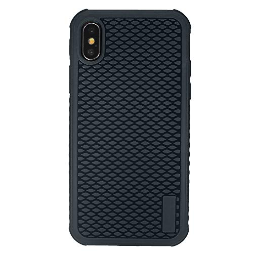 ockproof iPhone Xs Case, iPhone X Case, Soft TPU Case with Bumper [Textured Grip] for iPhone Xs/X, 5.8-inch, Black ()