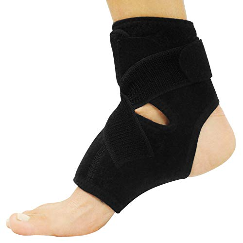 Vive Sprained Ankle Brace - Right and Left Foot Support for Men and Women - Adjustable Sleeve Wrap - Lightweight, Breathable Guard - Stabilizer for Running, Rolled Sprains, Swollen Tendonitis (L/XL)