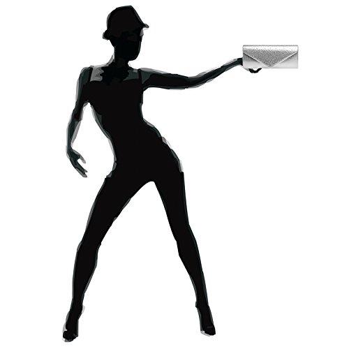 femme forme en de CASPAR soirée strass élégante pour avec clutch TA422 soirée de sac d'envloppe Argenté Pochette PPfwv