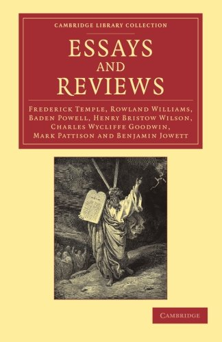 essays and reviews baden powell Essays and reviews is a collection of seven articles that appeared in 1860,   and cambridge intellectuals as benjamin jowett, mark pattison, baden powell,.