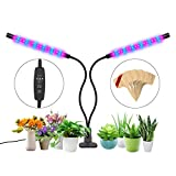 Grow Light[2018 Upgraded], Mountain Victor 36 Led Plant Grow Light Dual Head with 3/9/12H Timing Function, 5 Dimmable Level, 3 Light Modes, Adjustable Gooseneck Clip On Grow Lights for Indoor Plants For Sale
