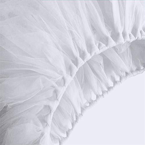 5Pcs DIY Tulle Tutu Table Skirt Table Skirting Baby Shower Birthday Banquet Wedding Decoration Textile 10080Cm white 100 x 80cm]()