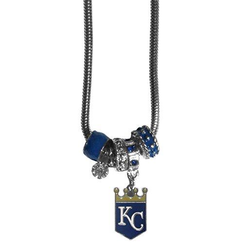 Kansas City Royals Charm - Siskiyou MLB Kansas City Royals Euro Bead Necklace 18