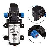 CAR MATE DC 12V 80W Micro Electric Diaphragm Water Pump 5.5L/Min High Pressure Car Washing Spray Automatic Switch RV Boat