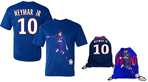 pretty nice cf2f8 b0ee5 Fanzz Sport Neymar Jersey Style T-Shirt Kids Neymar Jr Jersey PSG T-Shirt  Gift Set Youth Sizes ✓ Premium Quality ✓ Lightweight Breathable Material ✓  ...