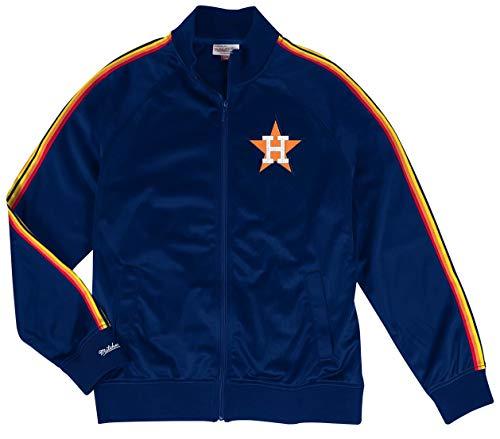 Mitchell & Ness Houston Astros MLB Navy Blue Full Zip Track Jacket Adult Men's (XX-Large, Jacket) (Mitchell And Ness Jacket)