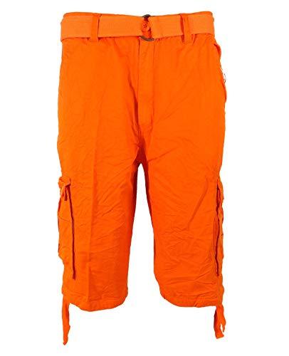 Tank Men's Light Twill Cargo Shorts, Orange, 36