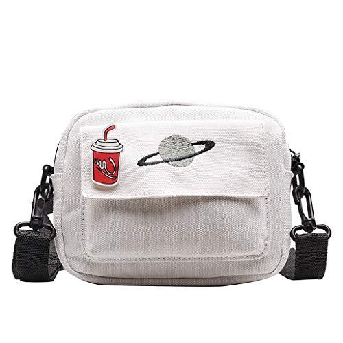 Phone Pouch Street Crossbody Bag Cool Girls Shoulder Purse Freestyle Sling Messenger Handbag (White)