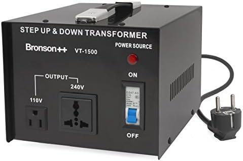 Bronson++ VT 1500 - Transformador Elevador/Reductor de Voltaje de 1500 Vatios EE.UU.: Amazon.es: Electrónica