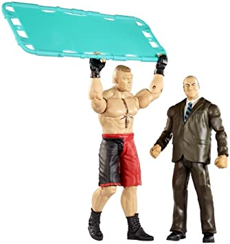 WWE Battle Pack Brock Lesnar vs. Paul Heyman with Stretcher Action Figure, 2-Pack: Amazon.es: Juguetes y juegos