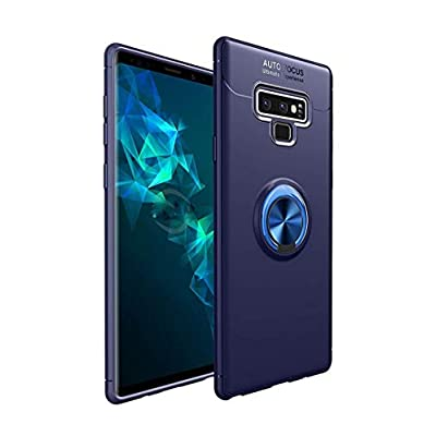 Galaxy Note 9 Case,Lozeguyc Soft TPU Hidden Kickstand Note 9 Back Case with Magnetic Car Mount Holder Kickstand Drop Protection Defender Case for Samsung Galaxy Note 9-Blue