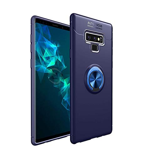 Price comparison product image Galaxy Note 9 Case, Lozeguyc Soft TPU Hidden Kickstand Note 9 Back Case with Magnetic Car Mount Holder Kickstand Drop Protection Defender Case for Samsung Galaxy Note 9-Blue