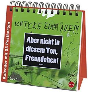 Barbara Heye-Verlag Aufstell-Postkartenkalender 16 cm x 16,5 cm Aufstellkalender mit 53 heraustrennbaren Postkarten Wochenkalender 2019