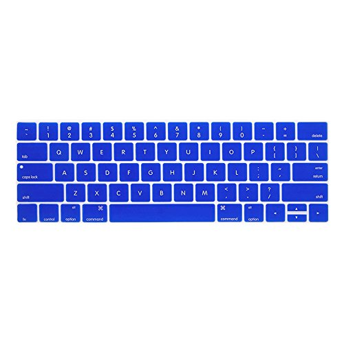 ProElife Premium Ultra Thin Silicone Keyboard Protector Keyboard Cover Skin for Apple MacBook Pro with Touch Bar Retina 13 and 15 (Model A1706, A1707, 2016 2017 2018 Released) (Blue)