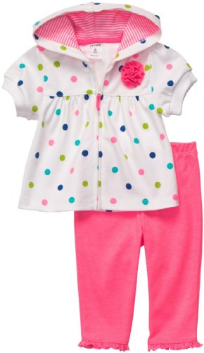 - Carter's Quick & Cute Cardigan Set - Pink/Multi Dot-NB