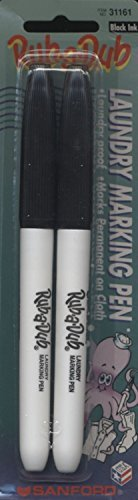 Sharpie Rub-A-Dub Fine Point Laundry Marker-Black- 4 ct by (Dub Permanent Laundry Marker)