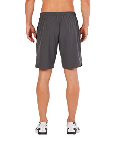 2XU Men's Training 2 in 1 Compression 9 Inch Shorts (Charcoal/Nero, Large)