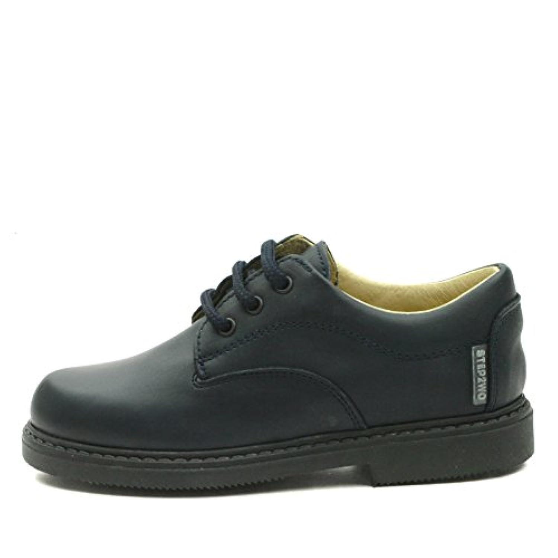 BOSTON LIGHT Step2wo Boys Laceup School Shoe in Brown Leather UK Size 7 Child / EU Size 24