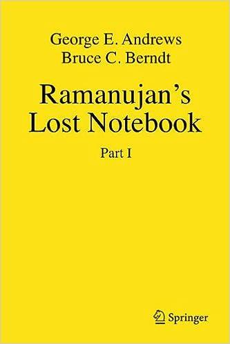 Ramanujan's Lost Notebook: Part I (Pt. 1): George E. Andrews, Bruce C. Berndt: 9780387255293: Amazon.com: Books