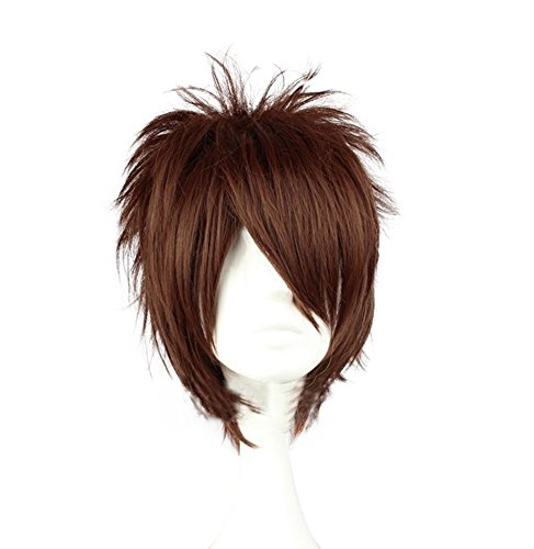 [Mtxc Hakuoki Cosplay Souji Okita Reverse Bend Wig Dark Brown] (Okita Souji Cosplay Costume)