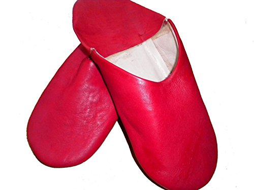 Babouche Loafers Trade Red Traditional Moroccan Fair Moroccan 100 Leather Slippers CgfwqfZxt