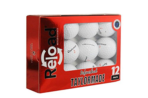 Reload Recycled Golf Balls Taylormade TP5 Refurbished Golf Balls (12 Pack) by Taylor Made (Image #1)