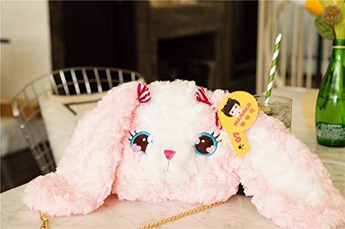 MIIA Plush Backpack - Rabbit Bunny Plush Backpack for Girls Plush Shoulder Bag Birthday Gift - 8 Inch Bear - Clip Backpacks Toddler D Unicorn Soft Monster Raccoon Ghost Spiderman Eevee Purse